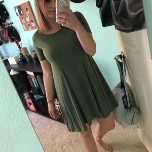 Urban Outfitters Olive Swing Dress